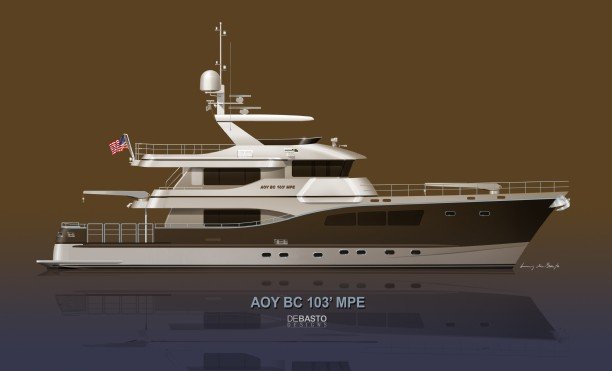 Click for Larger All Ocean Yachts 103 in Fiberglass