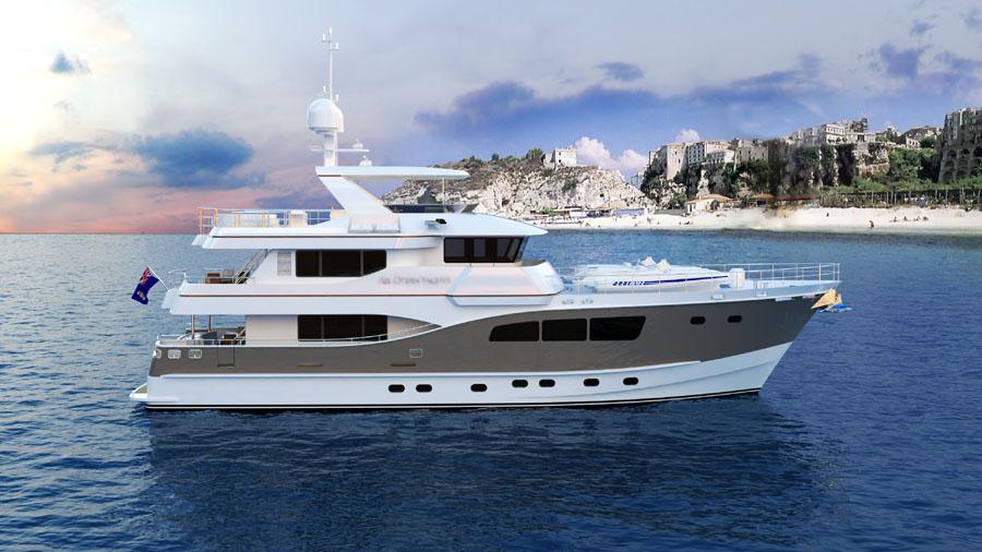 All ocean yachts 90 steel expedition buy explorer yachts for Ocean explorer fishing