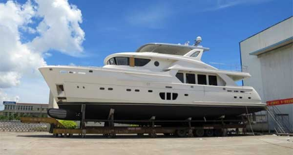FIRST SELENE 92' AT YARD NOW DELIVERED TO OWNER