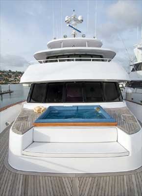 Expedition Yacht Foredeck Jacuzzi