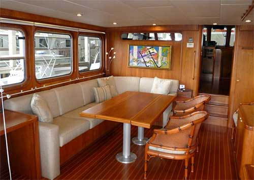 Expedition Yacht Main Salon for Sale
