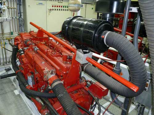 Expedition Yacht Engine Room