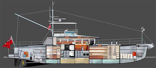 Expedition Yacht Layout 1