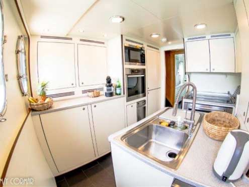 Expedition Yacht for Sale Galley