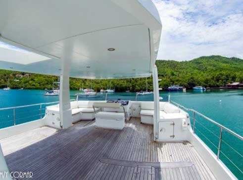 Expedition Yacht for Sale Upper Deck