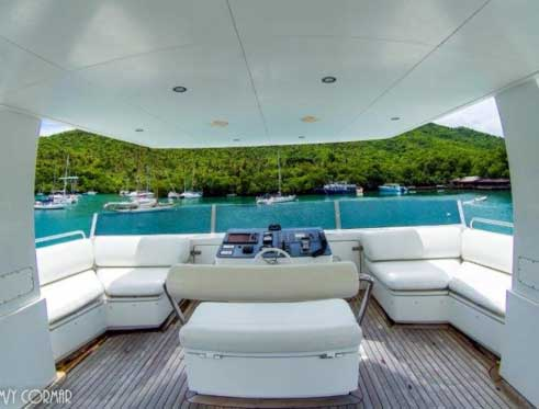 Expedition Yacht for Sale Upper Deck Helm