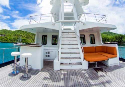 Expedition Yacht for Sale Middle Deck
