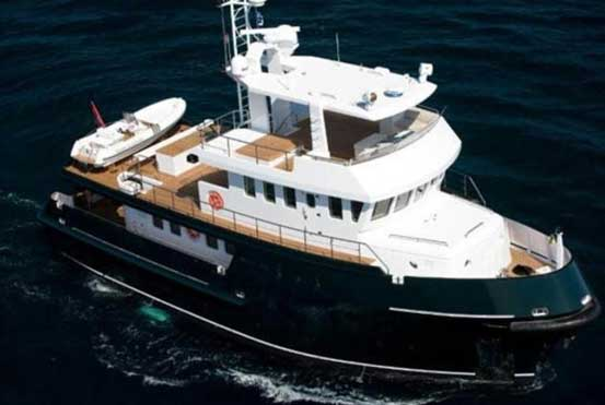 Expedition Yacht for Sale Starboard Quarter View