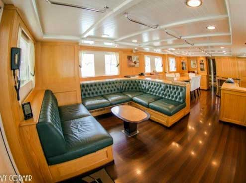 Expedition Yacht for Sale Salon