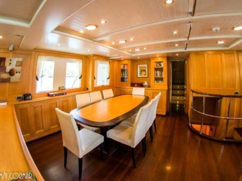 Expedition Yacht for Sale Dining