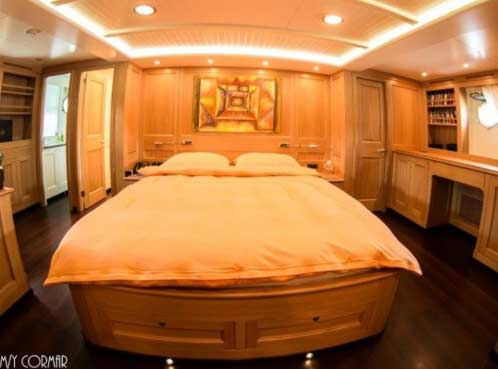 Expedition Yacht for Sale Master Cabin