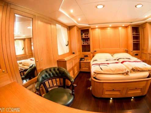 Expedition Yacht for Sale Forward Cabin