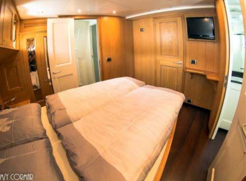 Expedition Yacht for Sale Upper Cabin Forward
