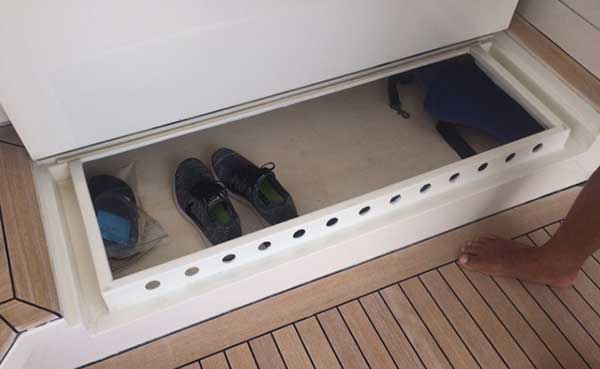 Expedition Catamaran Shoe Storage and Warmer