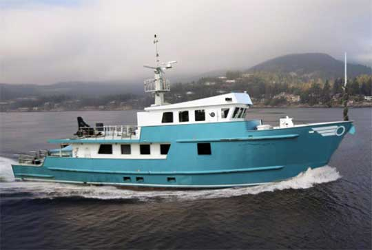 Expedition Yacht for Sale Ocean Voyager 95