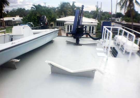 Boat Deck with Knuckle-Boom Crane
