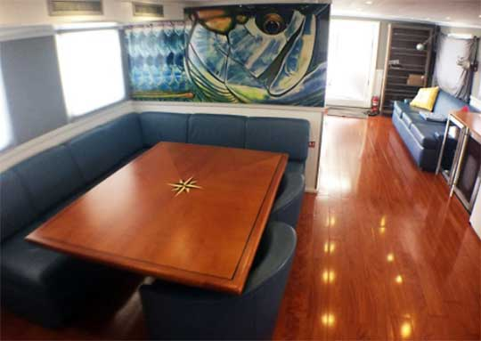 Expedition Yacht Salon Dining