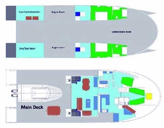 Expedition Yacht Rouge for Sale Layout