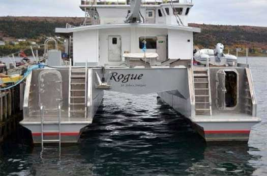 Expedition Yacht Rouge for Sale Stern