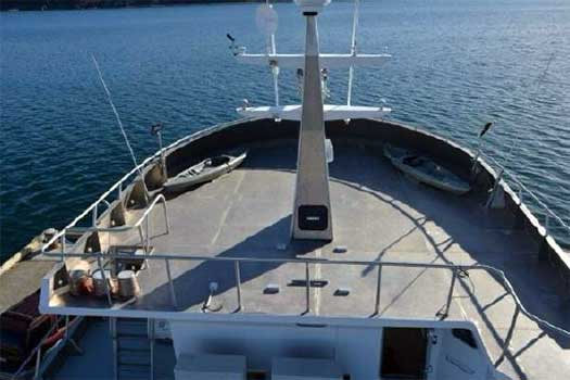 Expedition Yacht Rouge for Sale Fore Deck