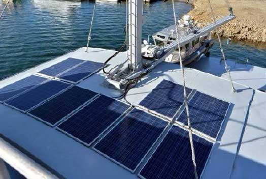 Expedition Yacht Rouge for Sale Solar Panels