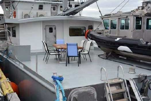 Expedition Yacht Rouge for Sale Aft Deck