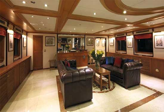 200 foot Expedition Yacht for Sale Main Salon