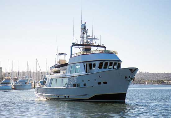 Seaton 64 Expedition Yacht Voyager Forward Quarter