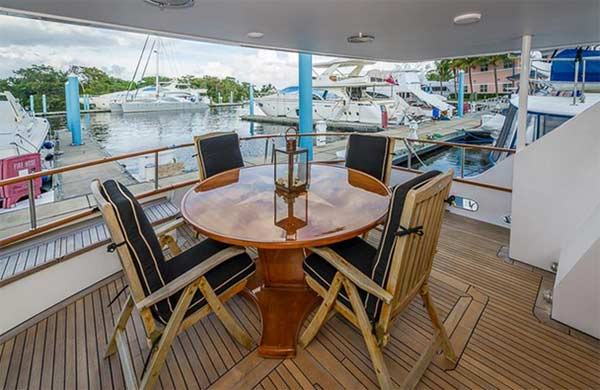 Aft Deck Teak Table and Chairs