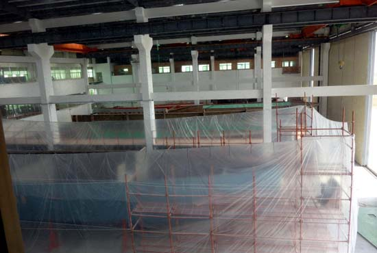 Tricon Part of Building Hall 3 in China